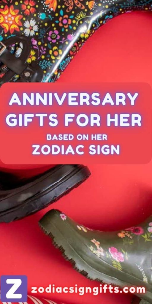 anniversary gifts for her based on her zodiac sign